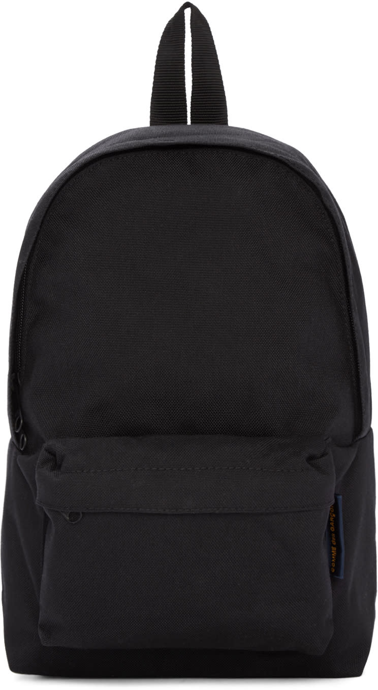 Comme Des Garcons Black Canvas Backpack
