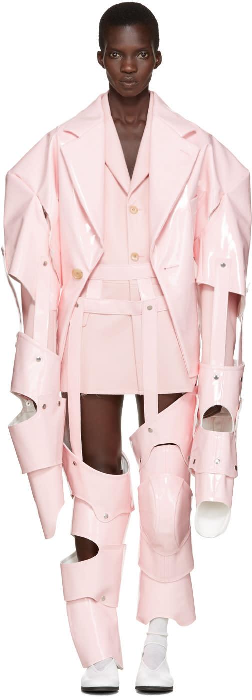 Comme Des Garçons Pink Cut-out Vinyl Suit