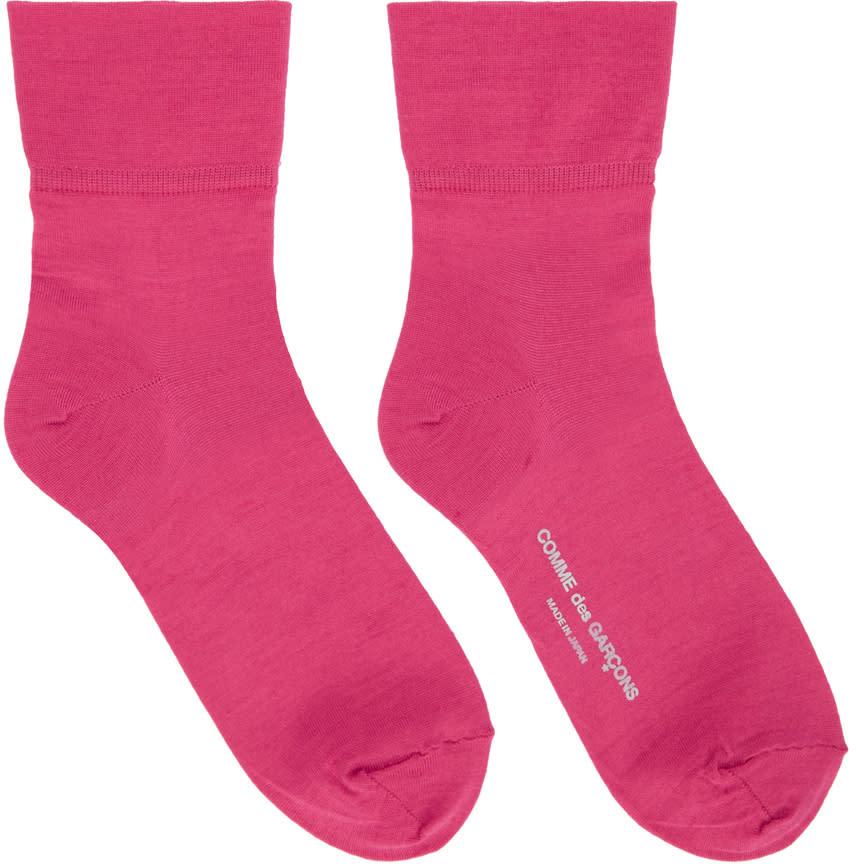 Comme Des Garcons Pink Short Socks