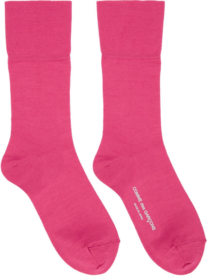 Comme Des Garcons Pink Long Socks