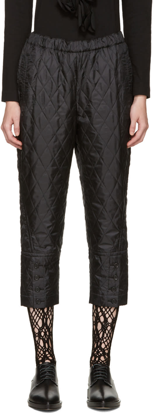 Comme Des Garcons Black Quilted Trousers