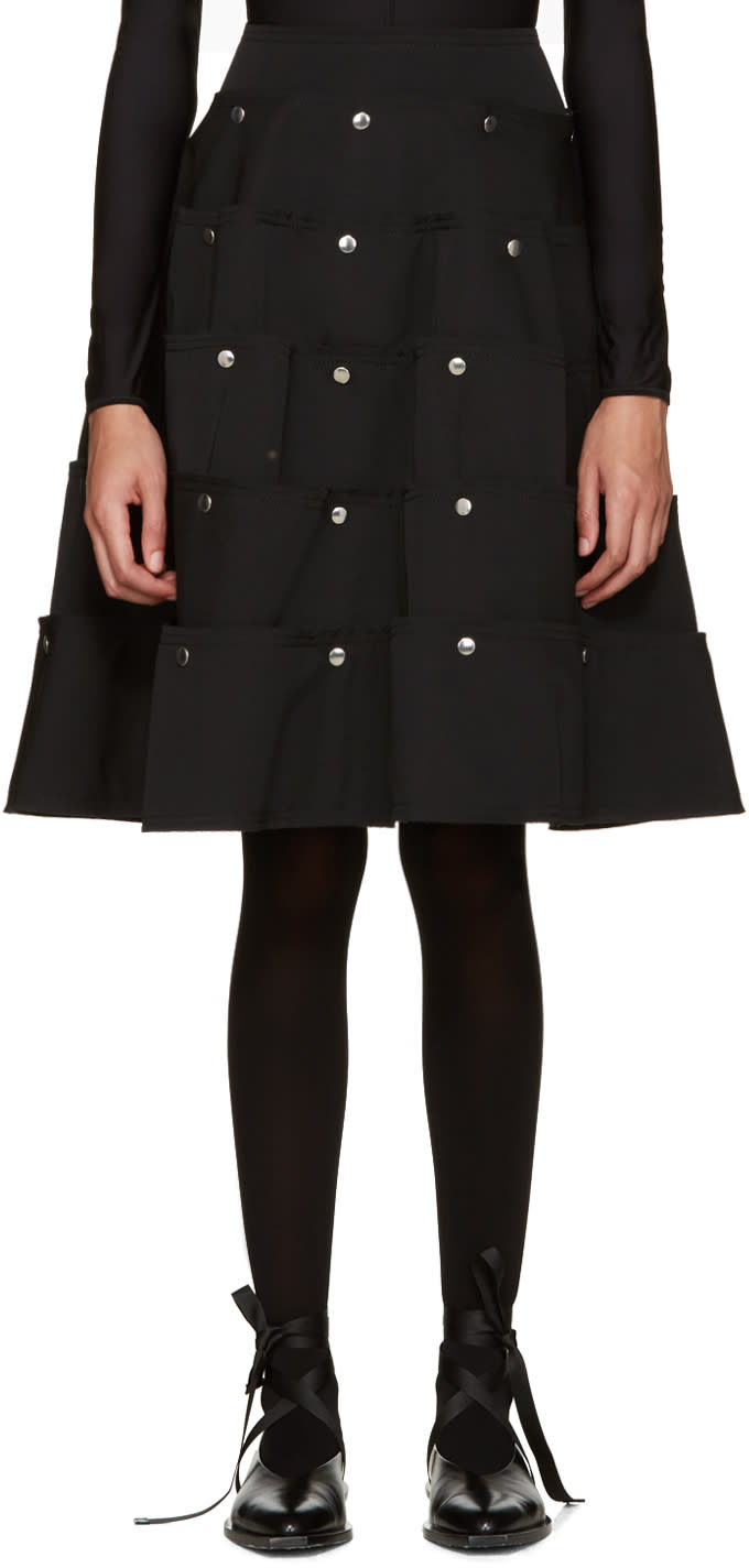 Comme Des Garcons Black Tiered Skirt