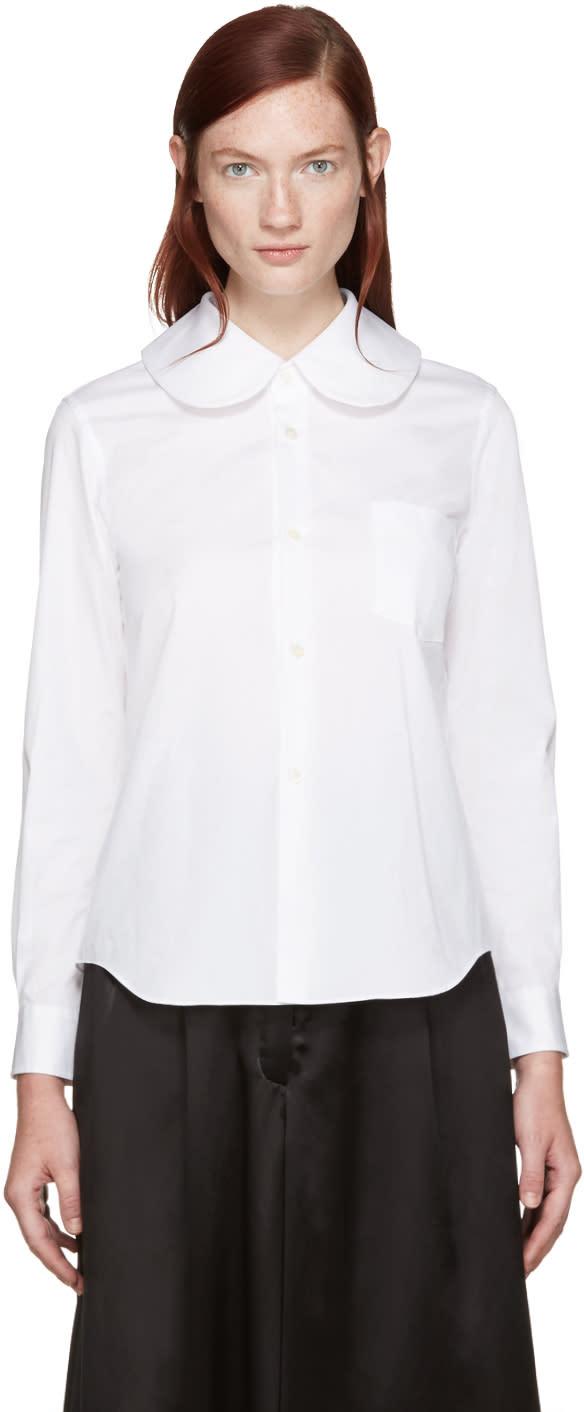 Comme Des Garcons White Big Collar Shirt
