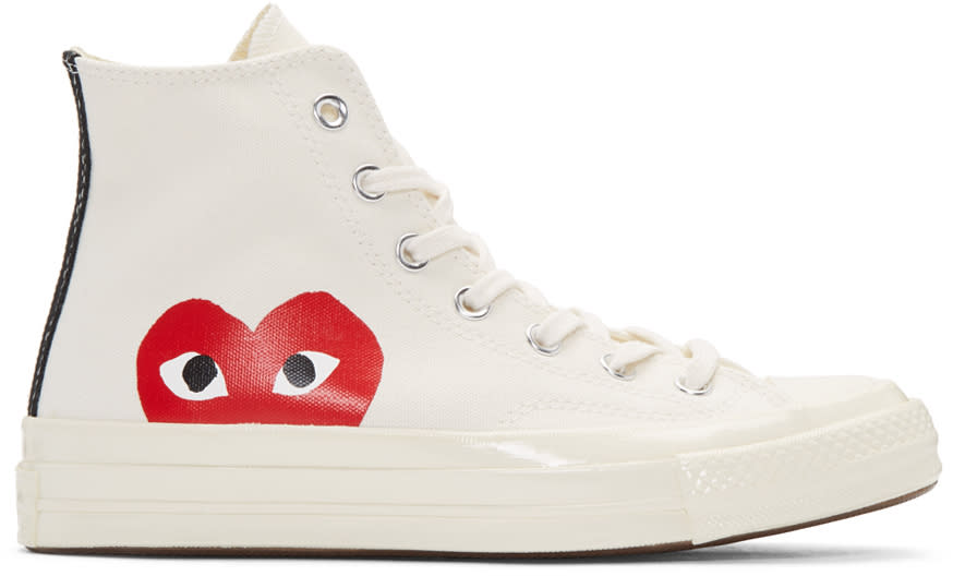 Comme Des Garcons Play Off-white Converse Edition High-top Sneakers