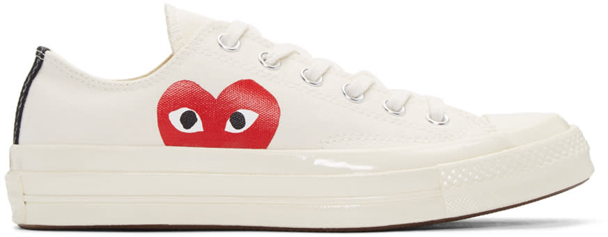 Comme Des Garcons Play Off-white Converse Edition Low-top Sneakers