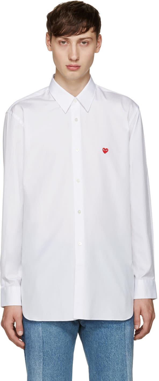 Comme Des Garçons Play White Small Heart Shirt