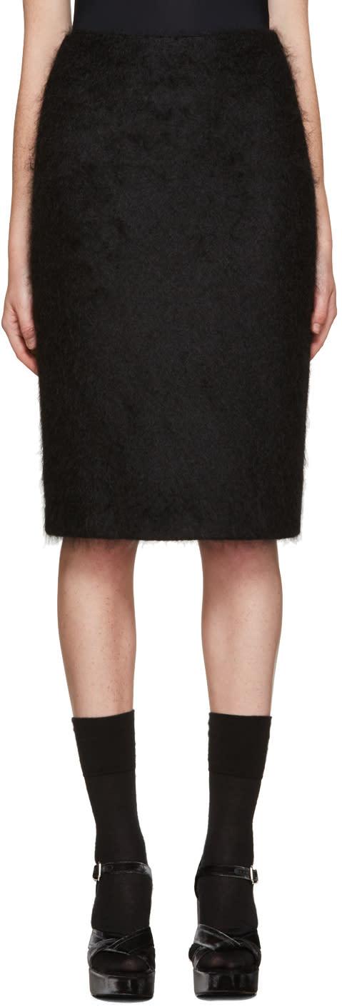 Jil Sander Black Mohair Skirt