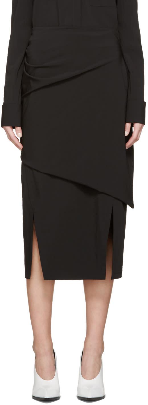 Jil Sander Black Bacon Skirt