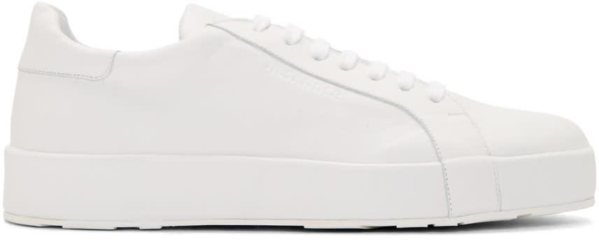 Jil Sander White Leather Miro Sneakers