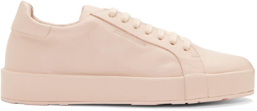 Jil Sander Pink Leather Miro Sneakers