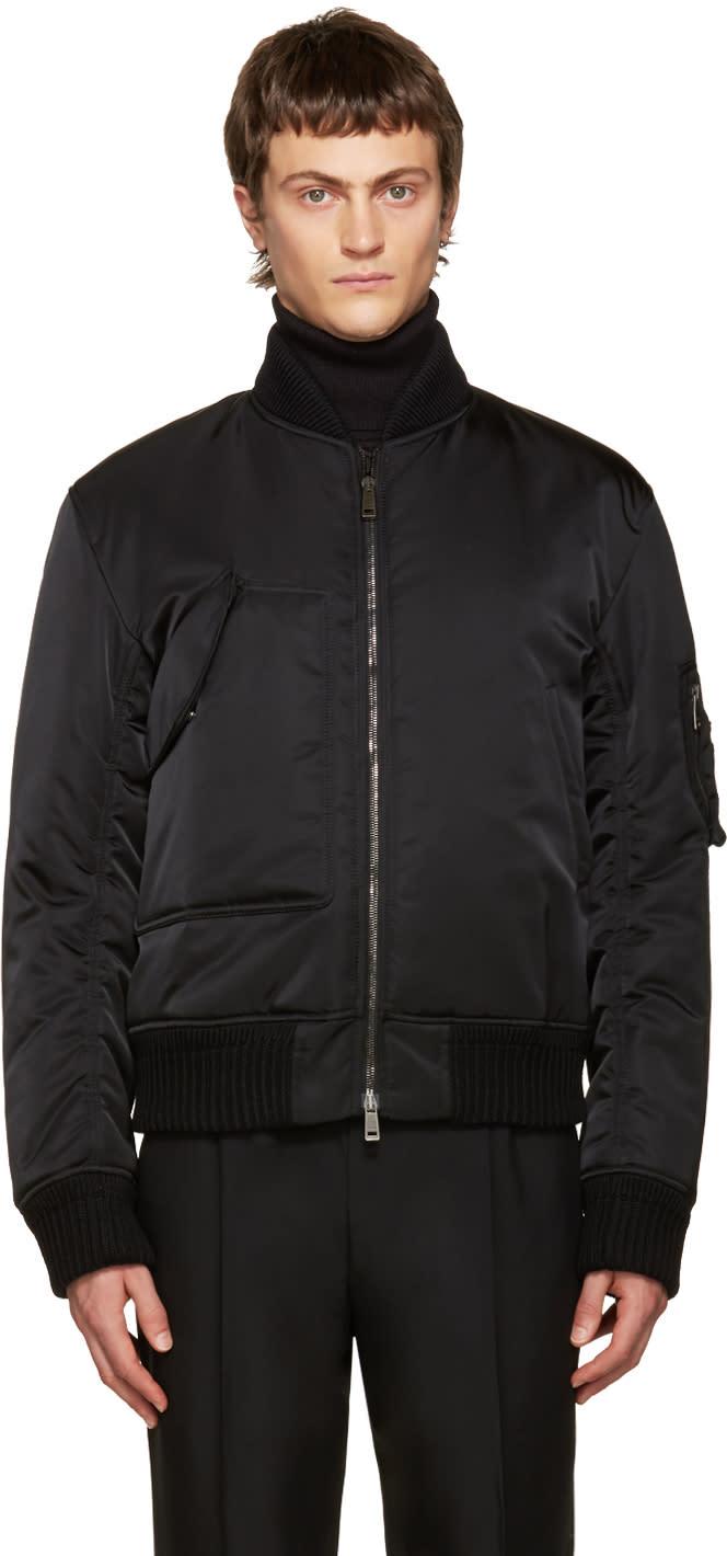 Jil Sander Black Libourne Bomber Jacket