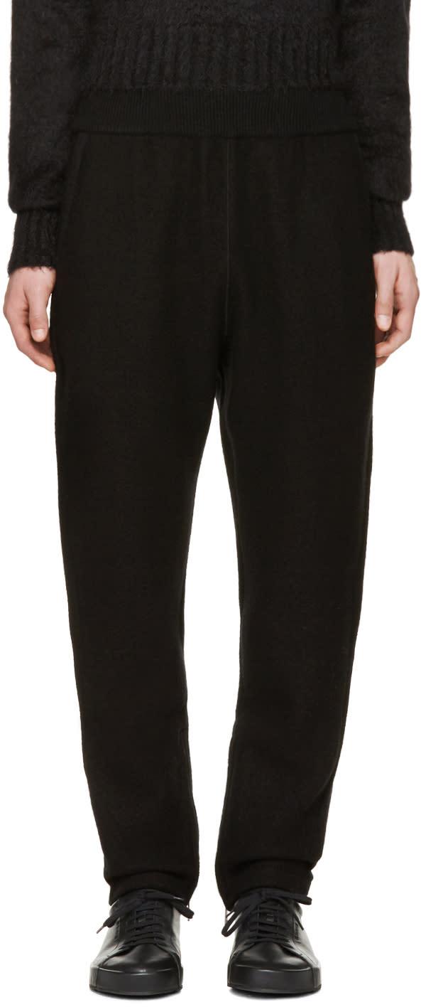 Jil Sander Black Wool Lounge Pants