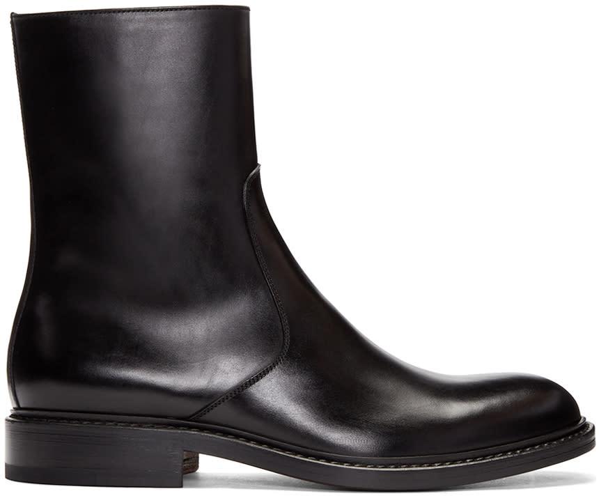 Jil Sander Black Leather Boots