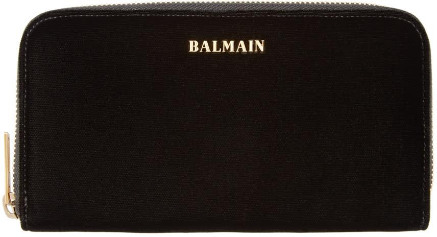 Balmain Black Velvet Wallet