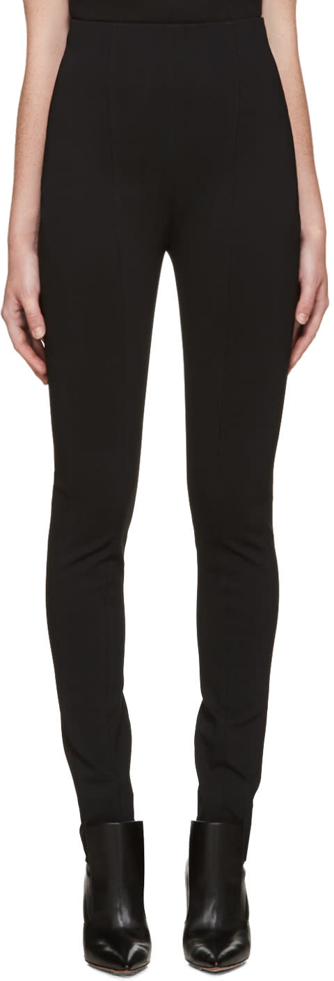 Balmain Black High-rise Trousers