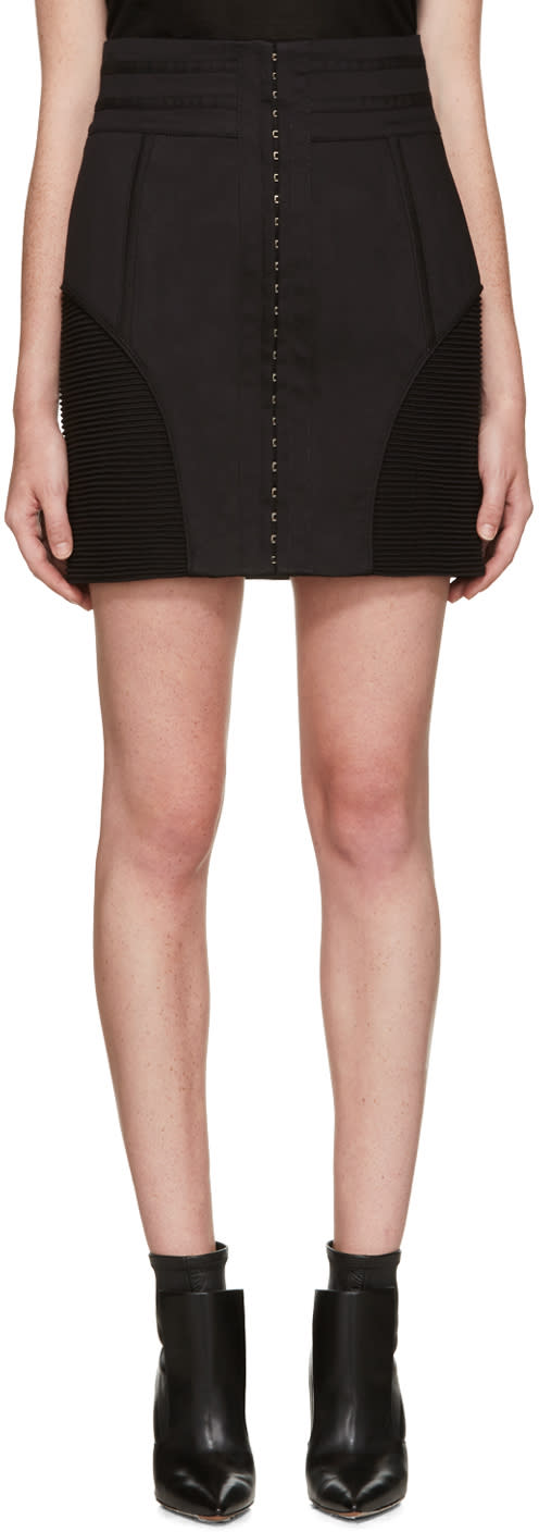 Balmain Black High-rise Skirt