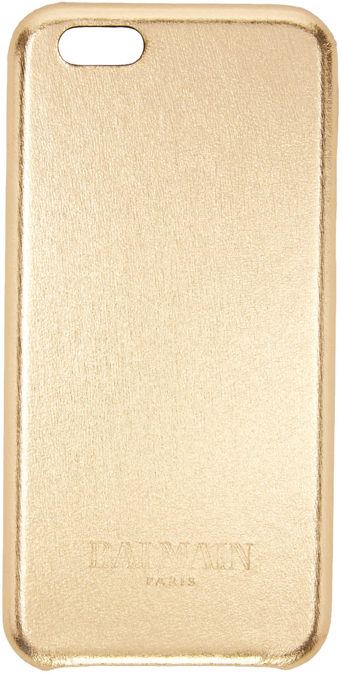 Balmain Gold Leather Iphone 6 Case