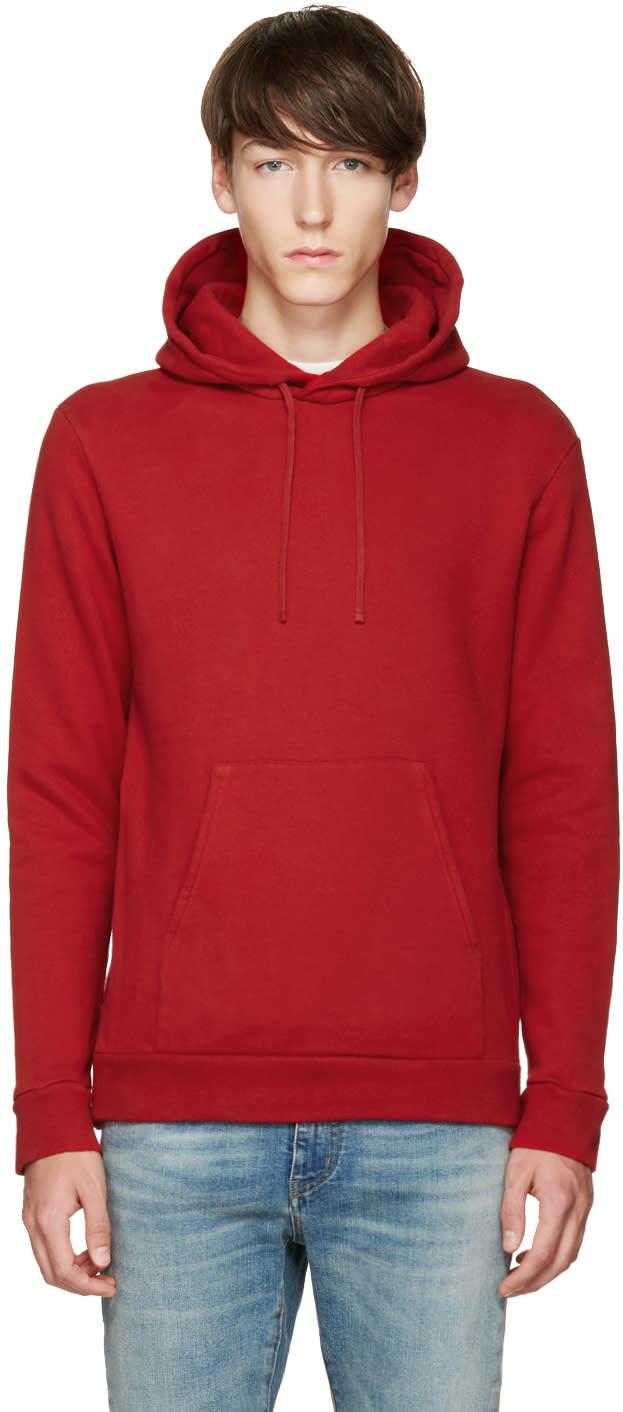 Balmain Red Fleece Hoodie
