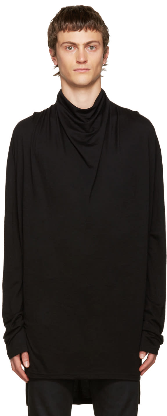 Balmain Black Cowl Neck Sweater