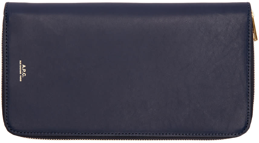 A.p.c. Navy Personal Organizer Wallet