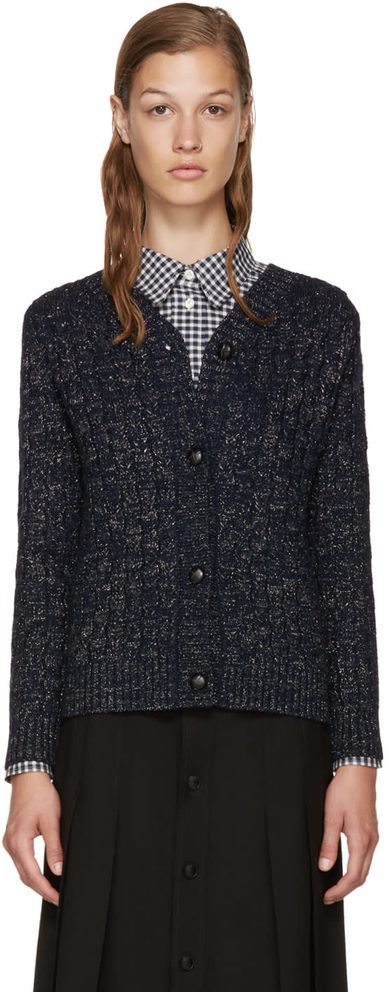 A.p.c. Navy Stacy Cardigan