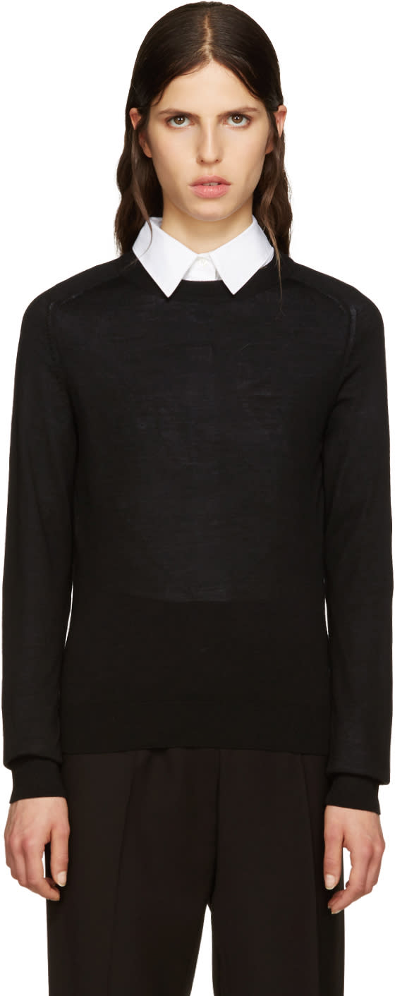 A.p.c. Black Wool Maud Pullover