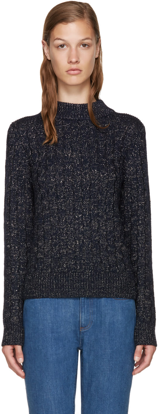 A.p.c. Navy Shelley Pullover