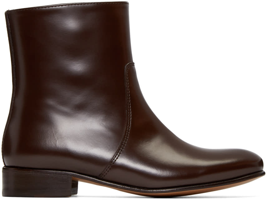 A.p.c. Brown Leather Richard Boots