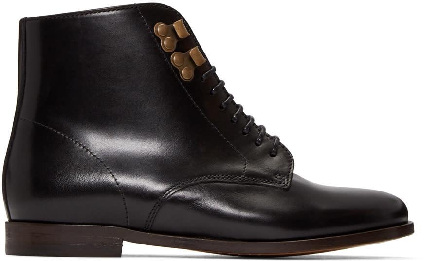 A.p.c. Black Leather Francoise Boots