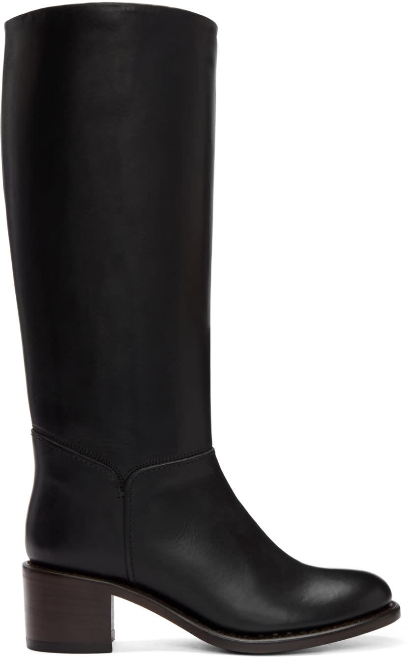 A.p.c. Black Tall Iris Boots