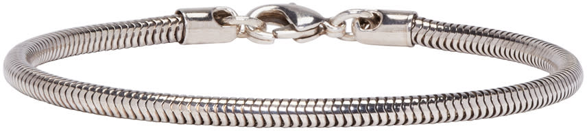 A.p.c. Silver Snake Chain Bracelet