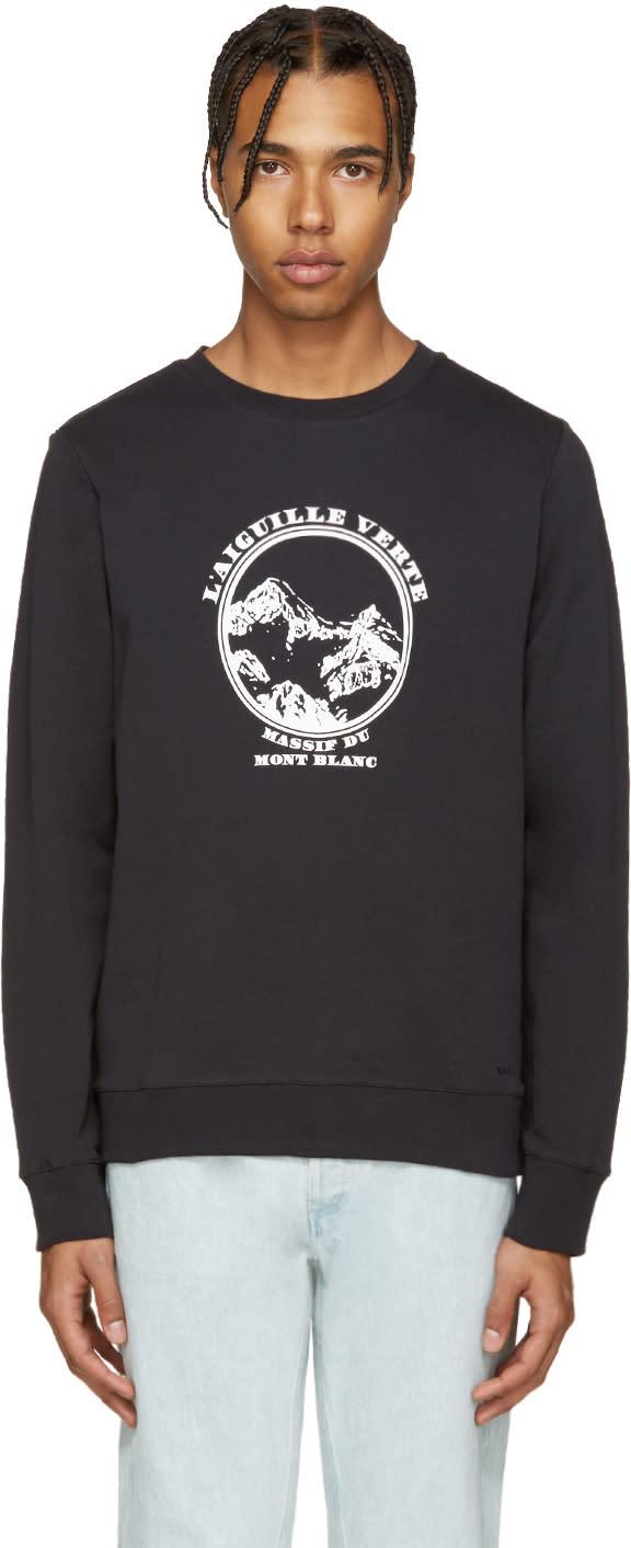 A.p.c. Navy Aiguille Verte Pullover