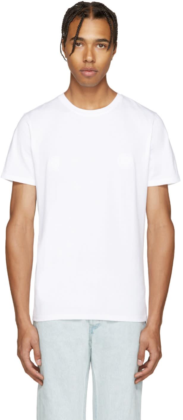 A.p.c. White Guitare Poignard T-shirt