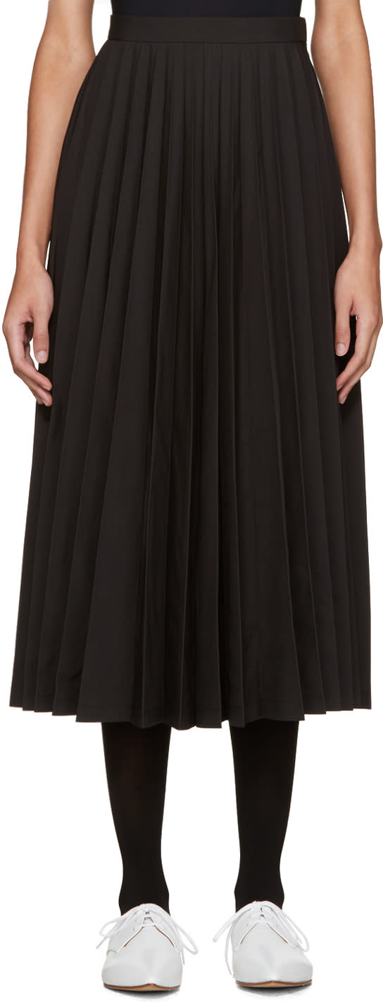 Junya Watanabe Black Pleated Skirt