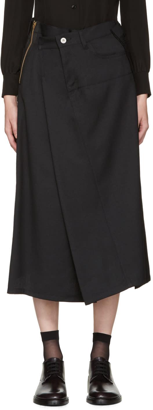 Junya Watanabe Black Asymmetric Skirt