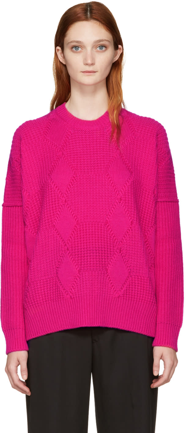 Junya Watanabe Pink Aran Wool Sweater