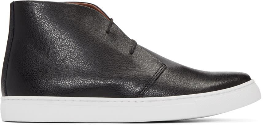 Junya Watanabe Black Leather High-top Sneakers