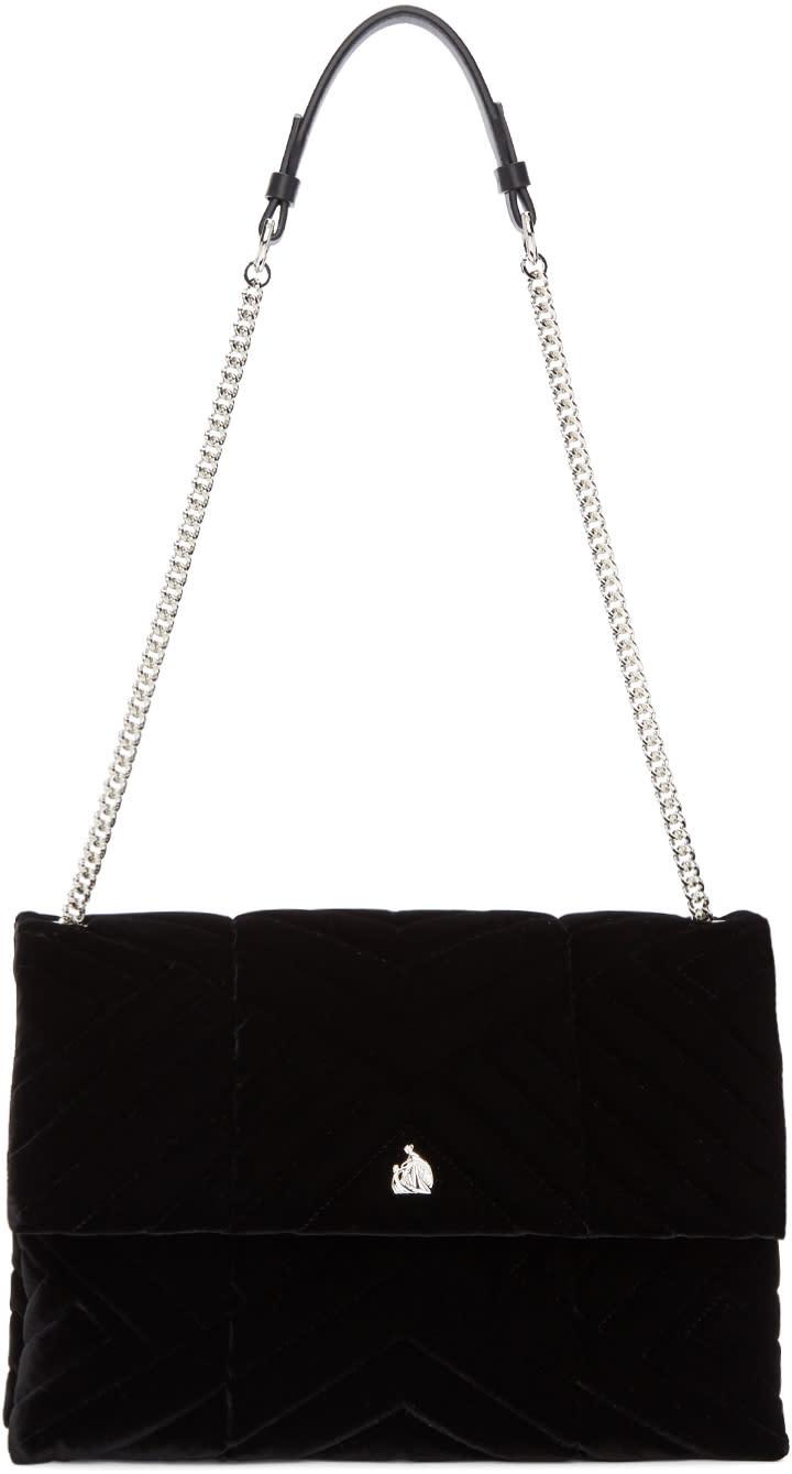 Lanvin Black Velvet Medium Sugar Bag