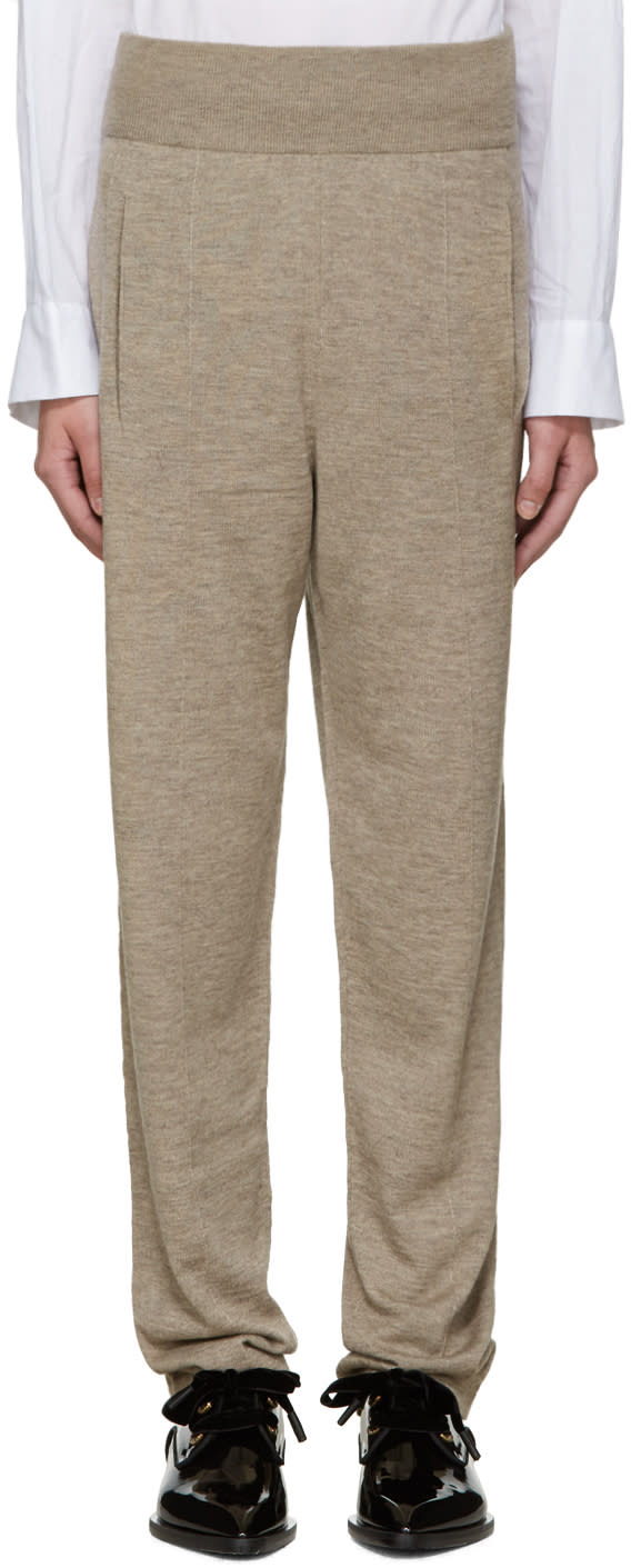 Lanvin Beige Knit Lounge Pants