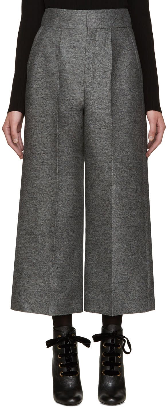 Lanvin Grey Wool Culottes