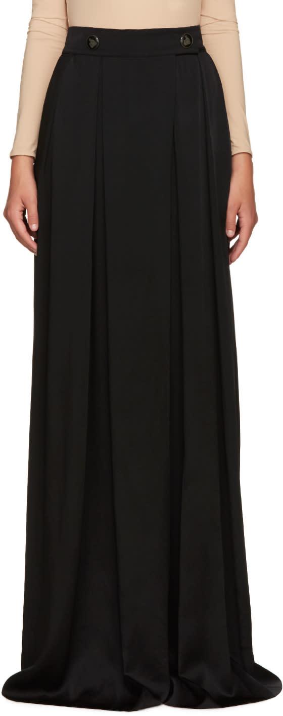 Lanvin Black Wide-leg Trousers