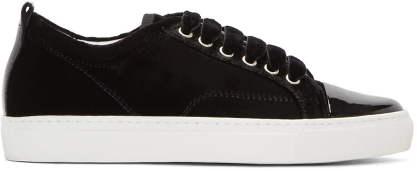 Lanvin Black Velvet Sneakers
