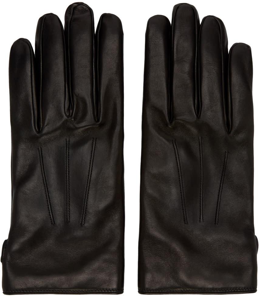 Lanvin Black Lambskin Gloves