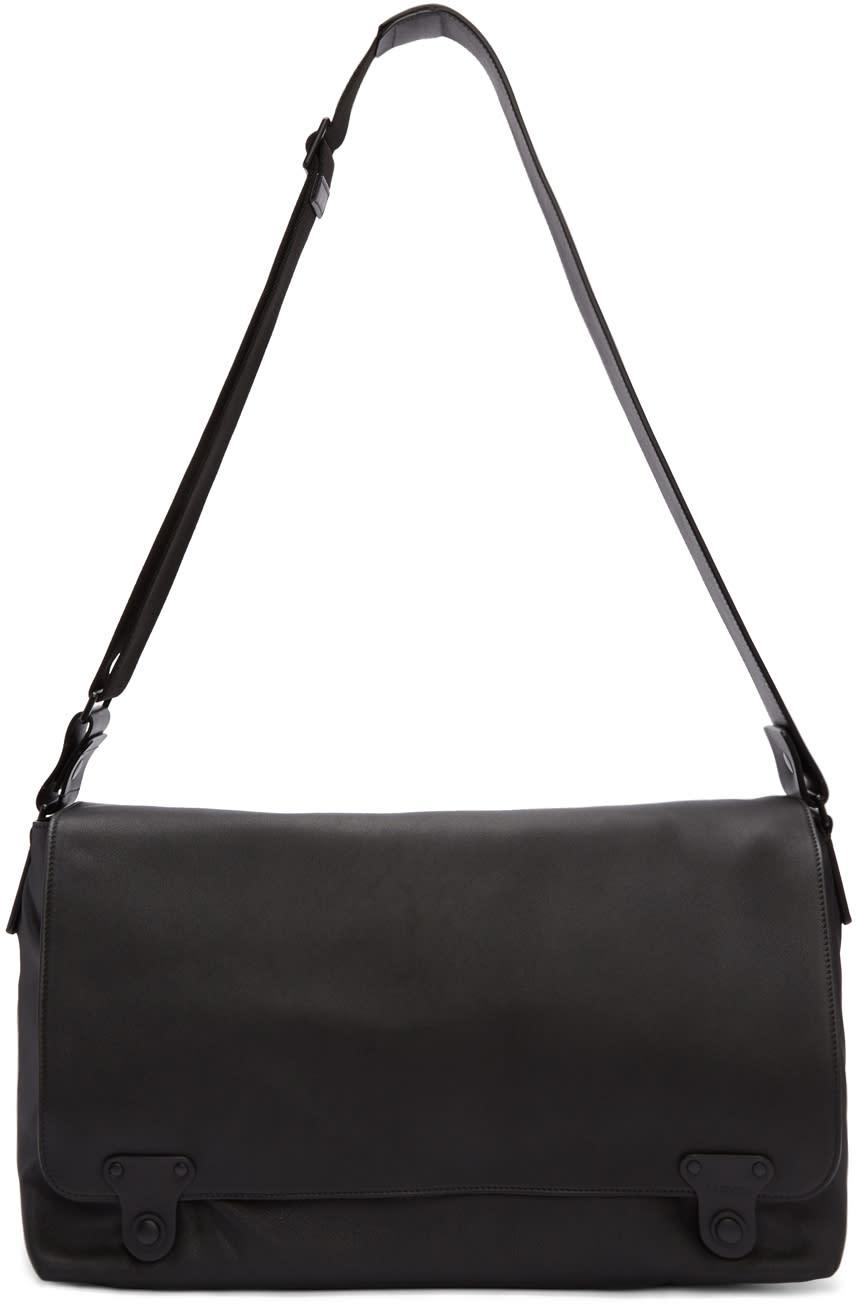 Lanvin Black Leather Messenger Bag