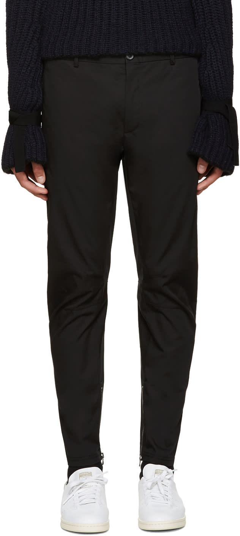 Lanvin Black Cotton Biker Trousers