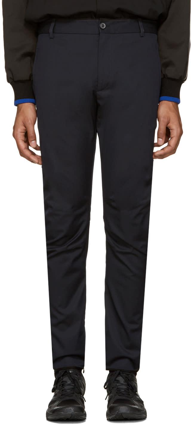 Lanvin Navy Wool Biker Trousers