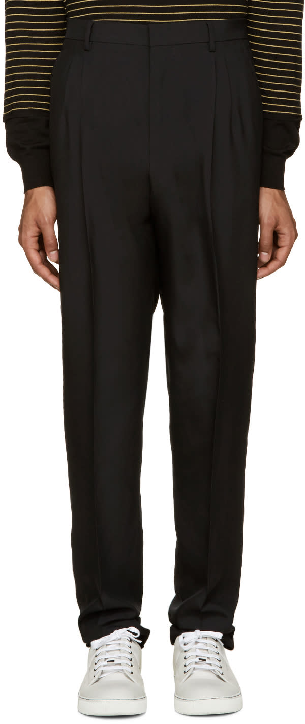 Lanvin Black Pleated Trousers