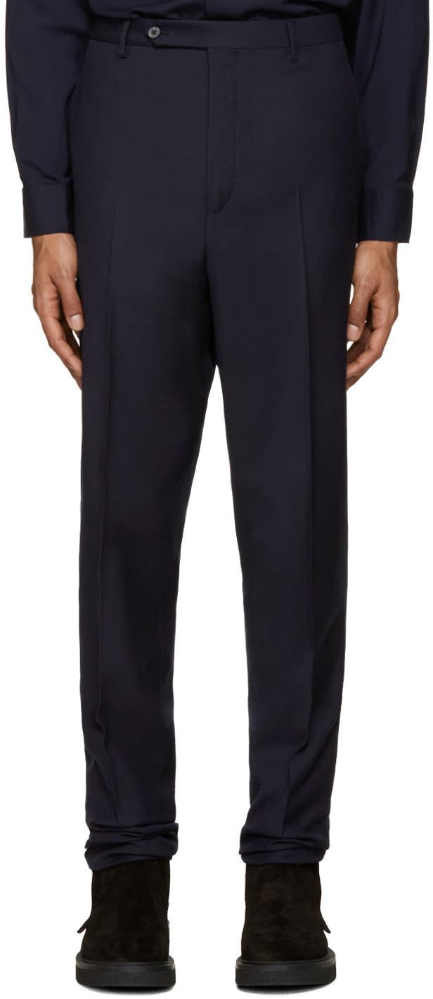 Lanvin Navy Wool Drop Trousers