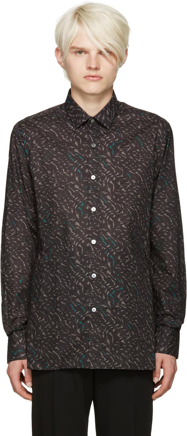 Lanvin Black Print Shirt