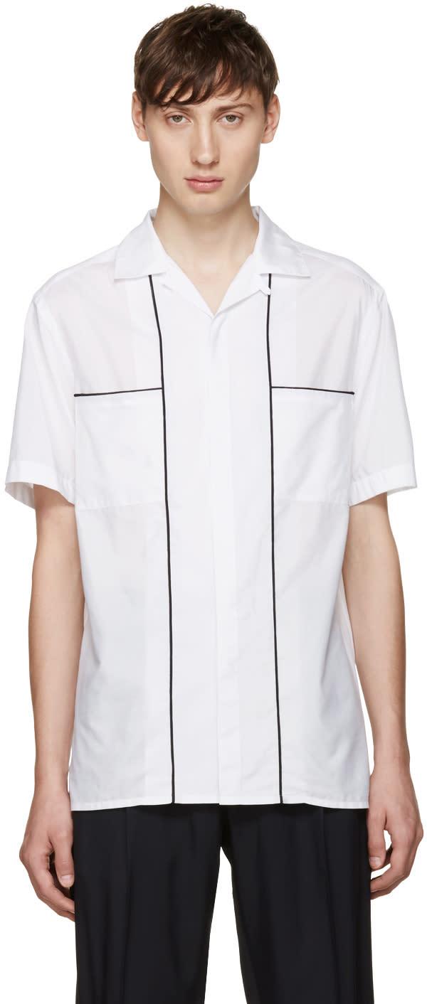 Lanvin White Open Collar Shirt